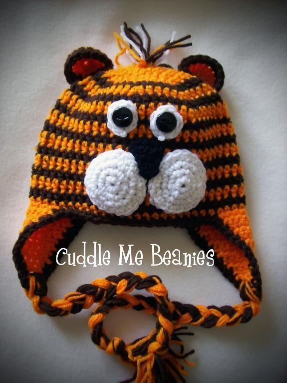 Tiger Beanie Crochet Pattern