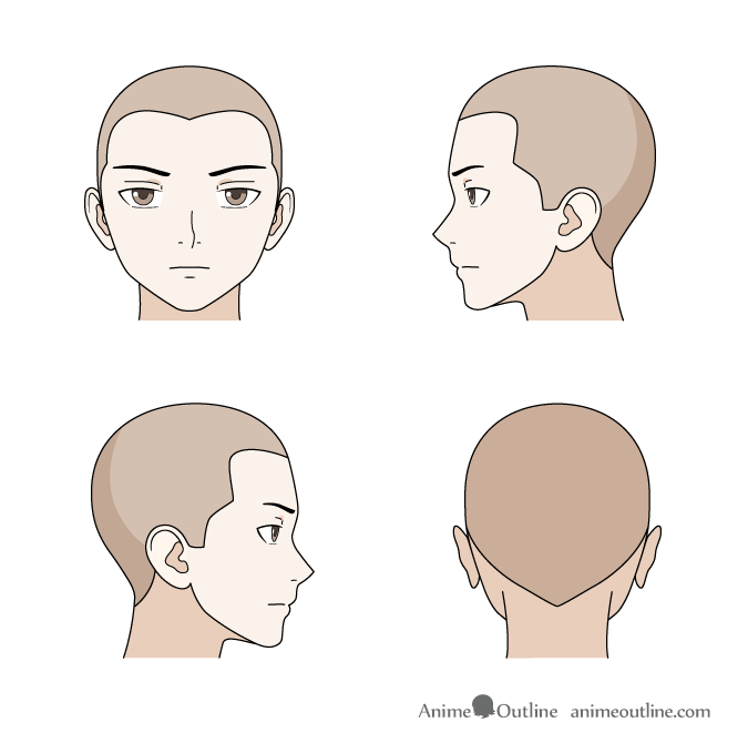 How To Draw Anime Manga Male Female Hair Animeoutline In 2020 Anime Drawings Drawing Male Hair Anime