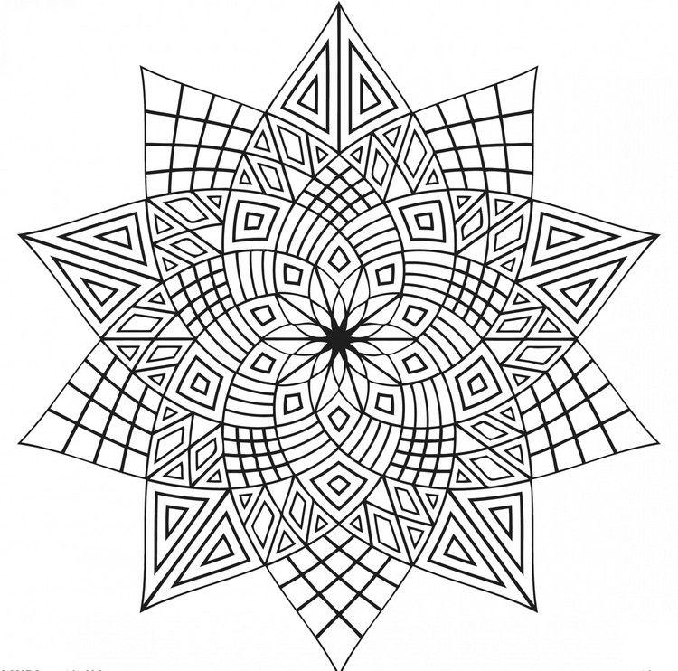 Ausmalbilder Für Erwachsene Ausdrucken Mandala Geometrische Formen