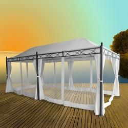 Awesome  Pavillon Gartenpavillon Doha x m Gartenzelt Metallpavillon Partyzelt