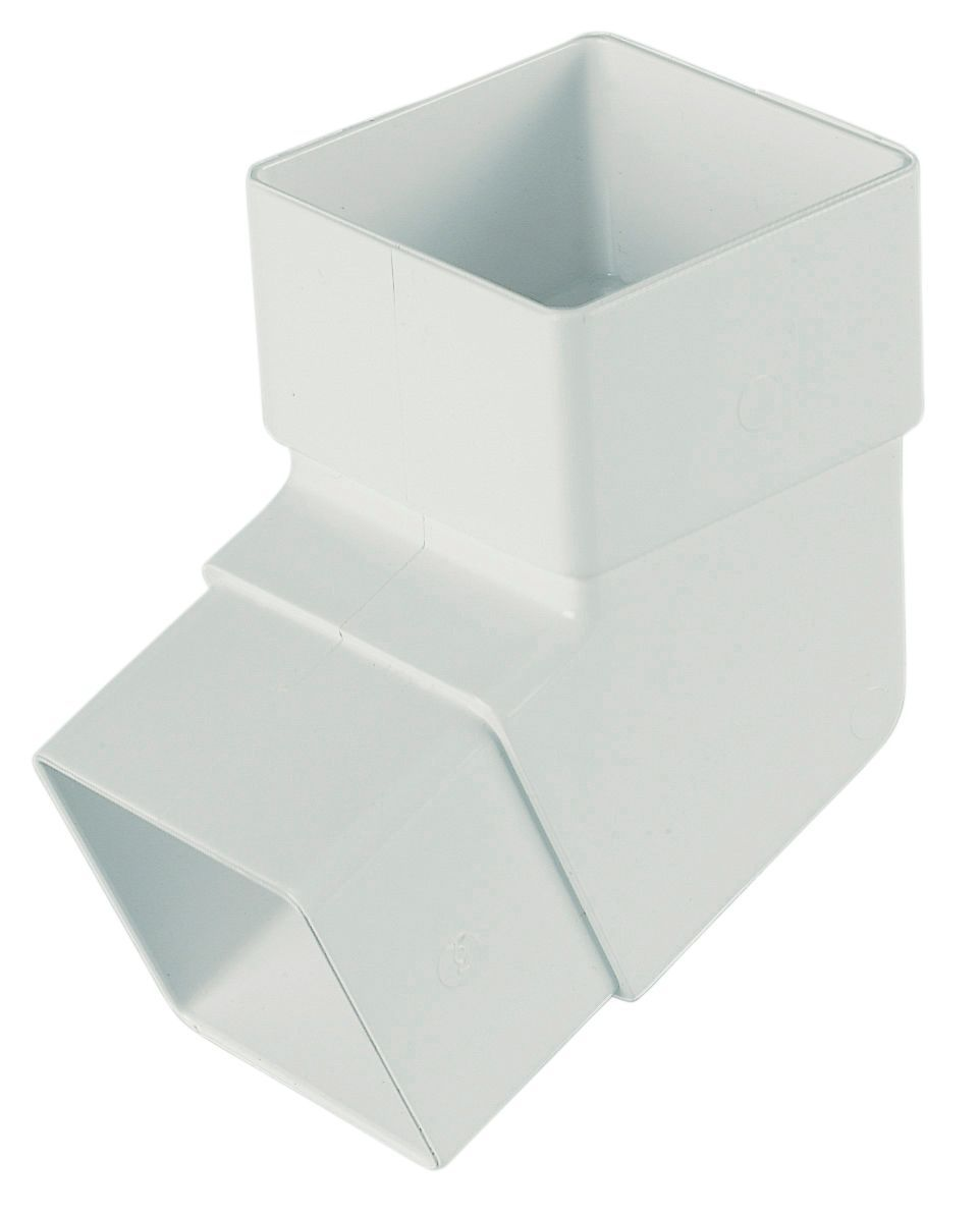 Floplast Square 112 5 Gutter Downpipe Offset Bend Dia 65 Mm White Departments Diy At B Q B Q Gutter Diy