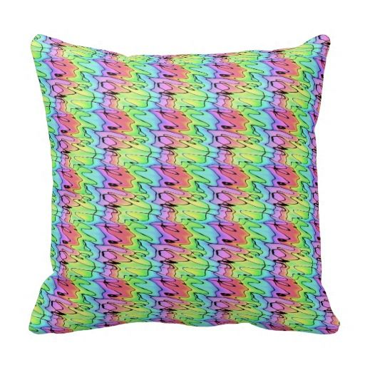 Blurry Rainbow Throw Pillow