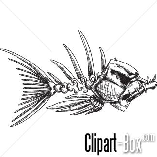 Clipart Evil Fish Skeleton Fish Sketch Fish Drawings Skeleton Drawings