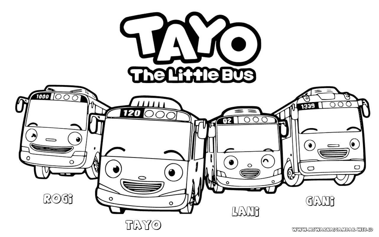 Mewarnai Gambar Tayo The Little Bus