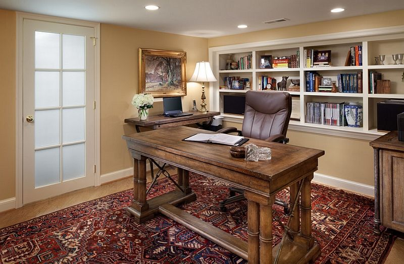Basement Home Office Design And Decorating Tips домашнее рабочее Stunning Basement Home Office Ideas