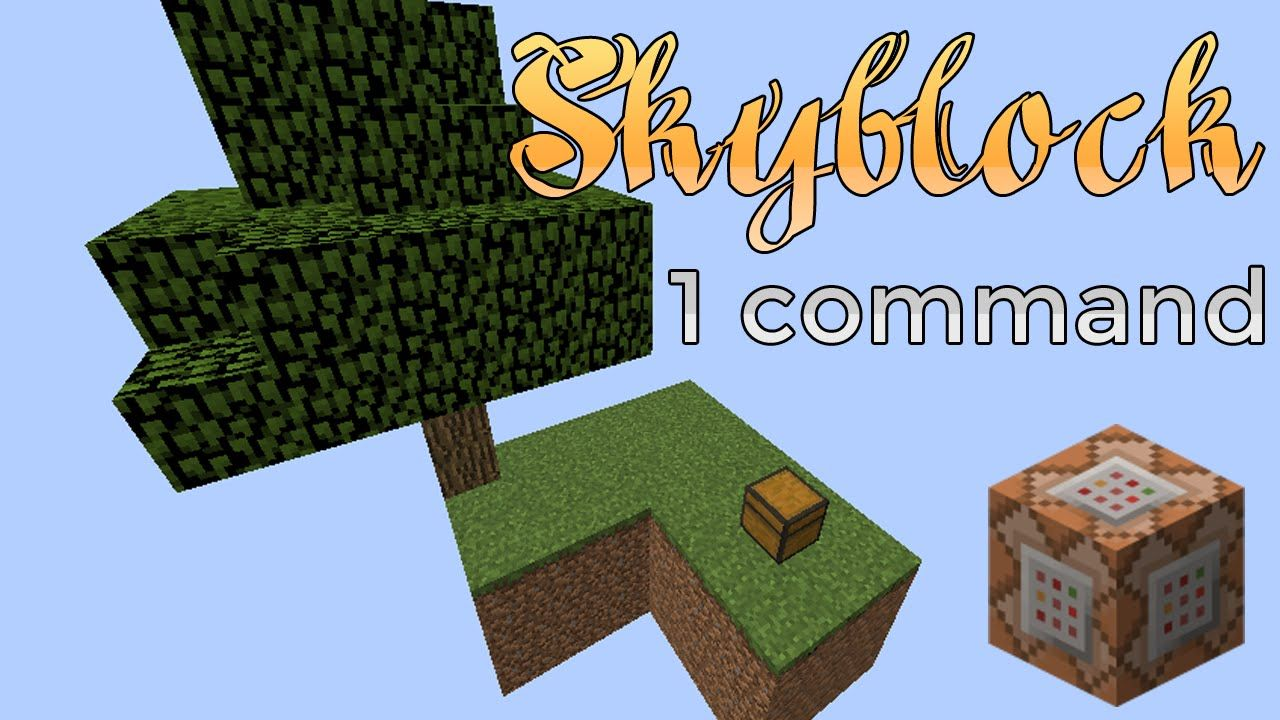 Minecraft Skyblock In A Command Minecraft Commands Minecraft