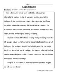 Capitalization Worksheet 2 | Grammar worksheets, Punctuation and ...