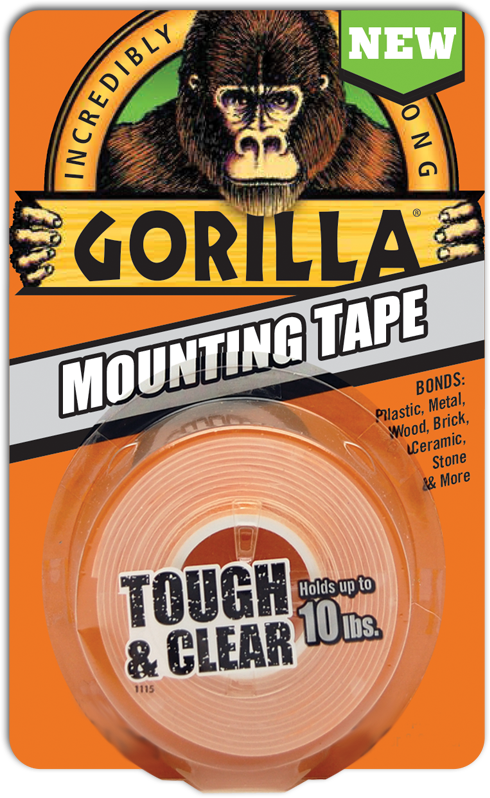 Gorilla Mounting Tape Is Tough And Clear And Mounts In An Instant