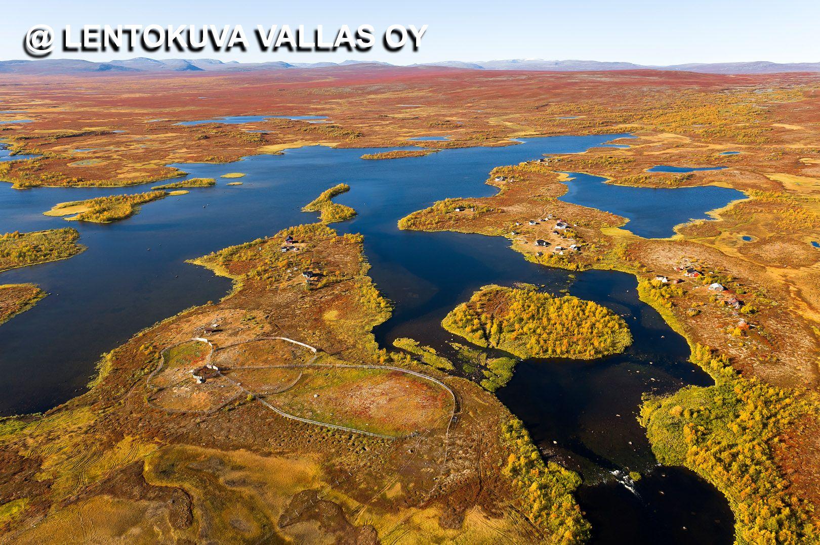 Enontekiö, Raittijärven kylä Ilmakuva: Lentokuva Vallas Oy