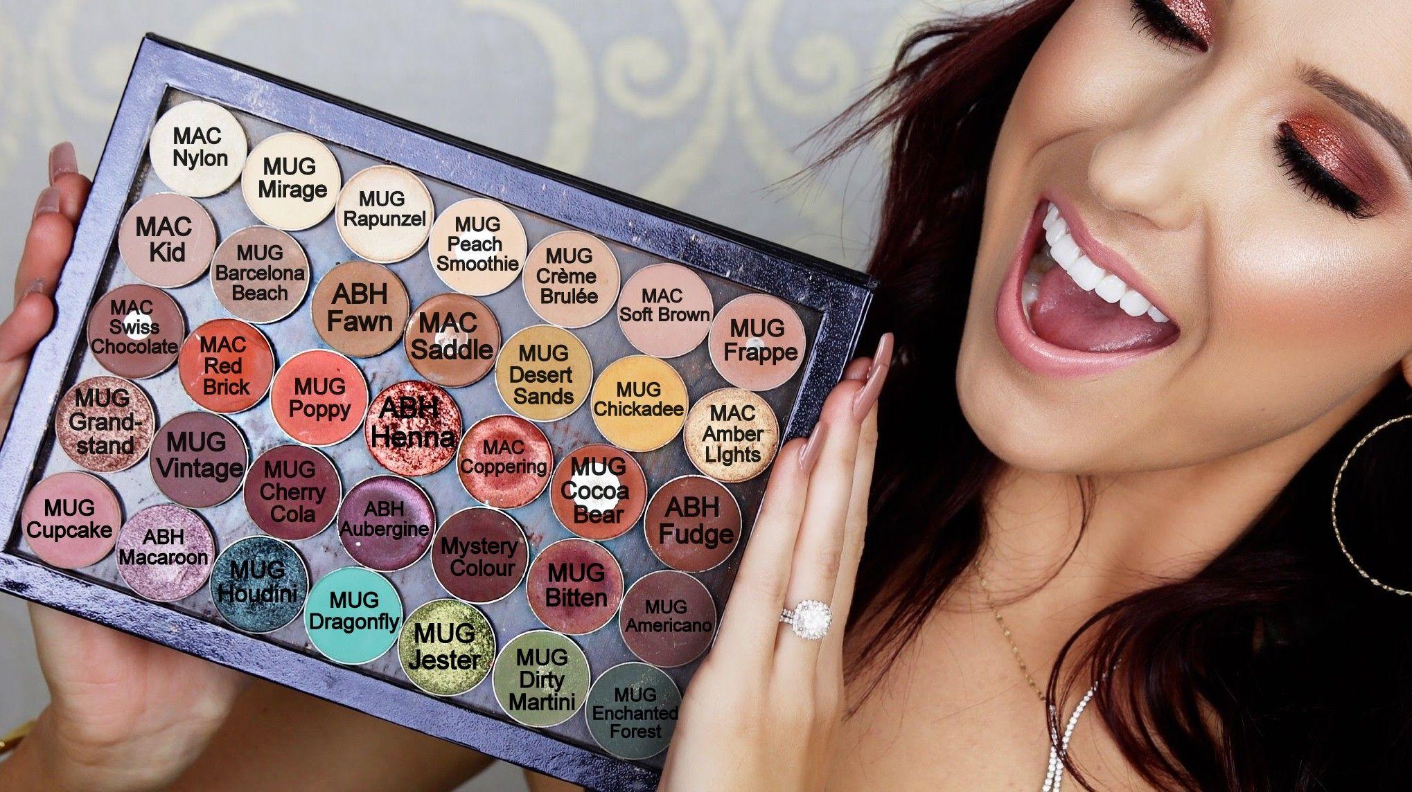 Jaclyn Hill's Favorite Single Eyeshadows | Custom Z Palette. MAC, Makeup Geek, Anastasia Beverly Hills