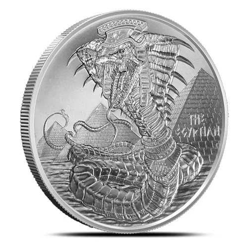 1 Oz Silver World Of Dragons Series The Egyptian Round Dragon Series Silver Rounds Egyptian