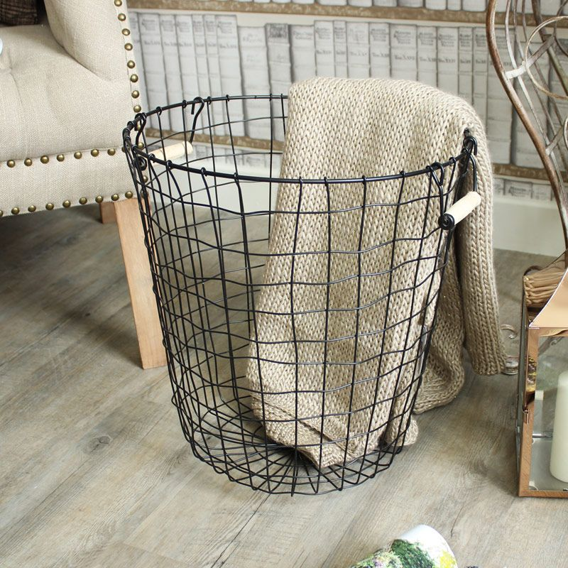 Image of: Metal Laundry Basket Storage  Metal laundry basket