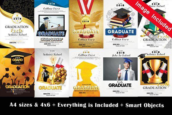 Graduate Flyer Bundle Vol Creativework  Templates