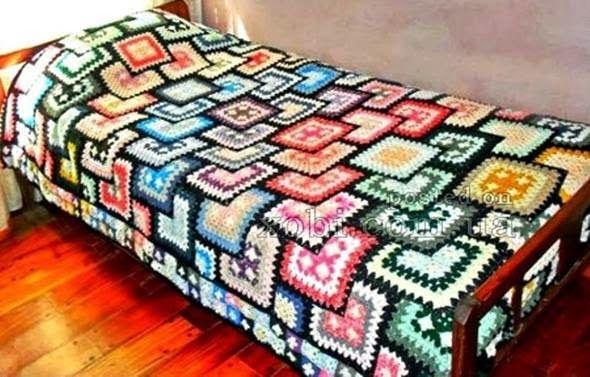 h kelfieber patchwork granny decke stricken pinterest deckchen patchwork und decken. Black Bedroom Furniture Sets. Home Design Ideas