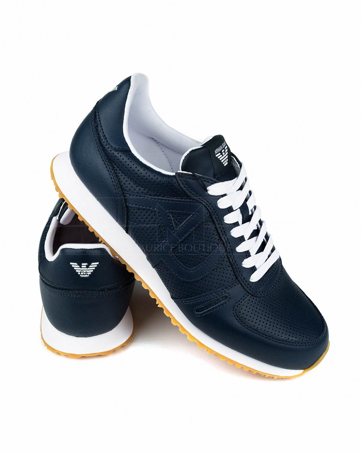 huge selection of 832a8 1748e Zapatillas Armani Jeans - Azul Marino   Zapatos-shoes   Jeans, sneakers,  Armani shoes mens, Shoe boots