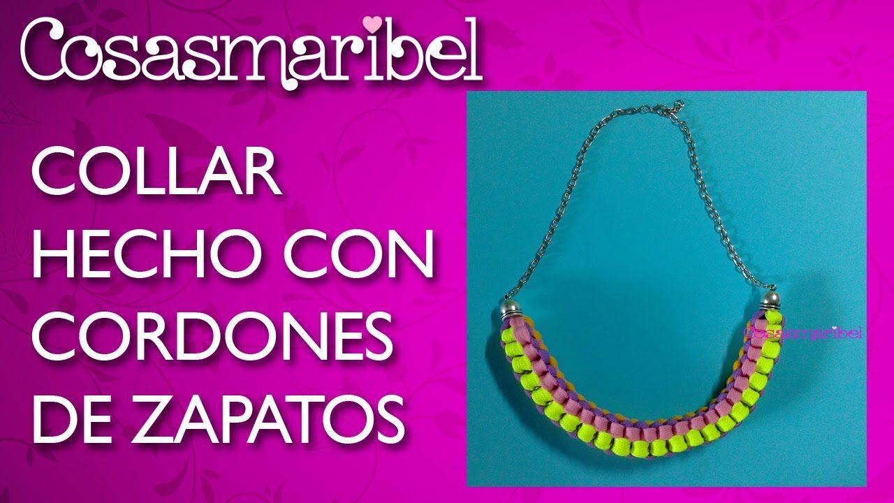 06f2e228295e DIY Como hacer un collar de moda con cordones de zapatos ...