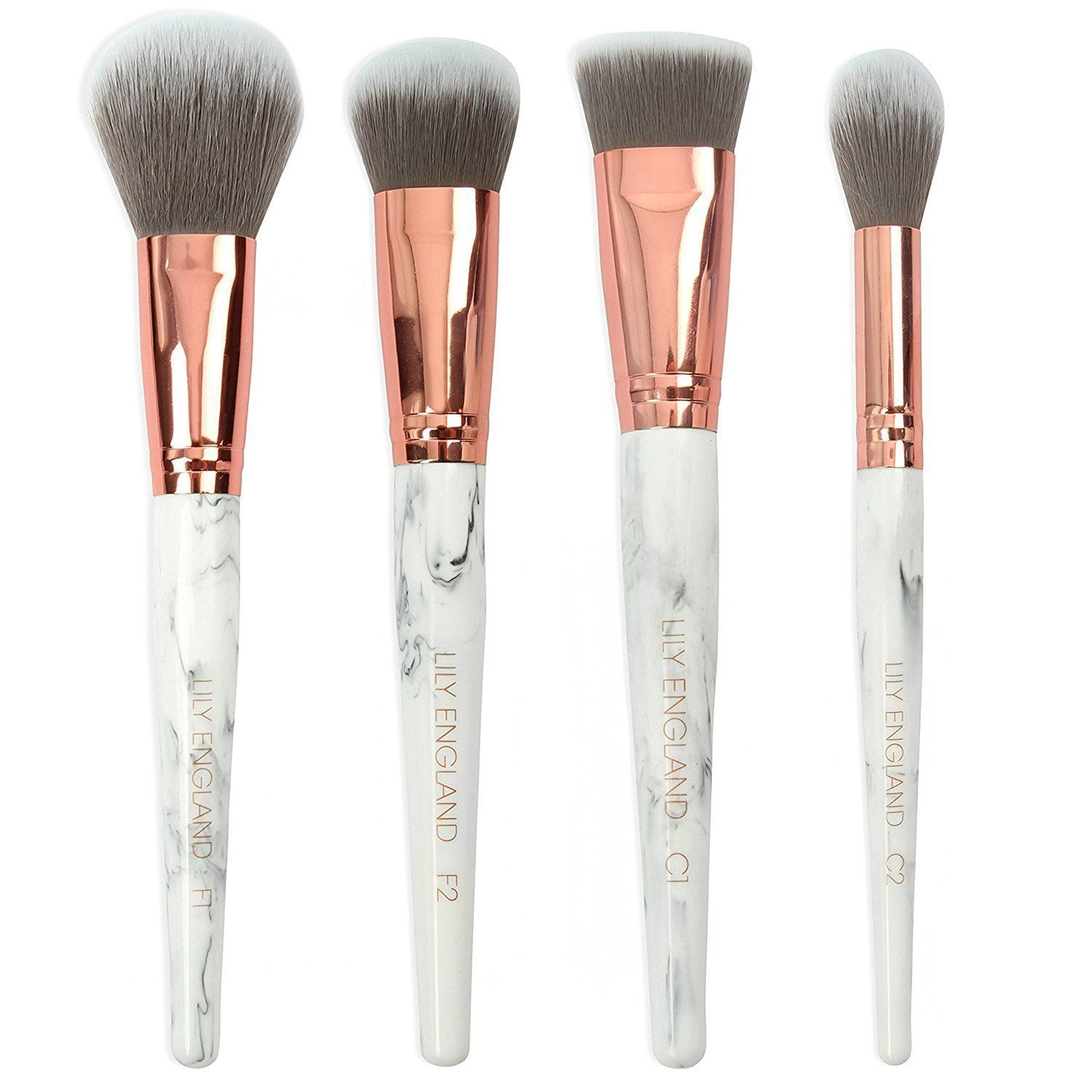 Lily England Makeup Brush Set Powder, Foundation