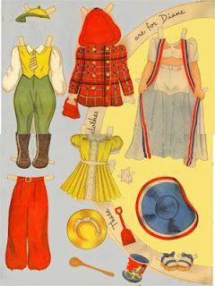 Miss Missy Paper Dolls: 3 dolls
