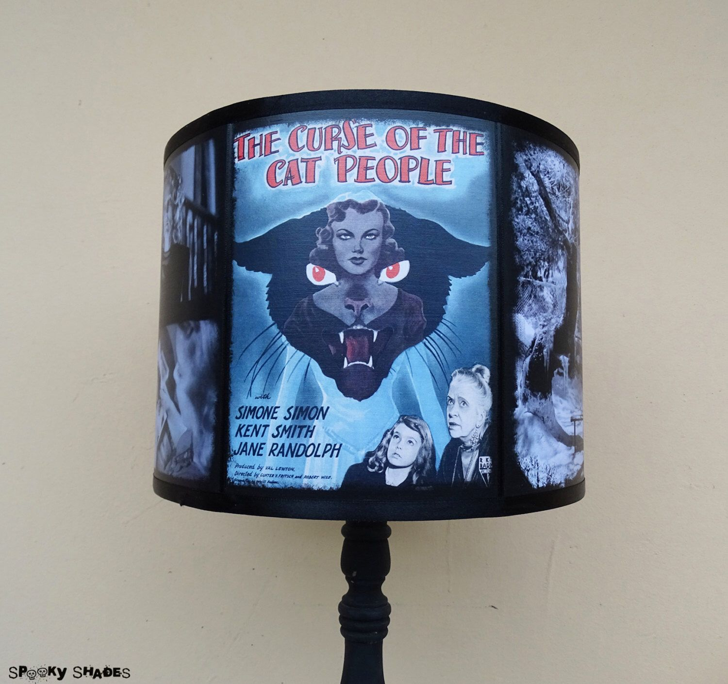 The curse of the cat people lamp shade lampshade halloween the curse of the cat people lamp shade lampshade halloween lighting classic horror aloadofball Images