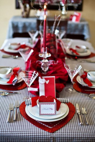 valentines day table settings | Valentines Tablescapes | Pinterest ...