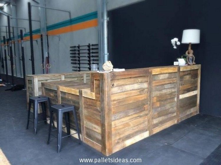 Mobili Pallet ~ Wooden pallet recycling ideas bar counter pallets and pallet