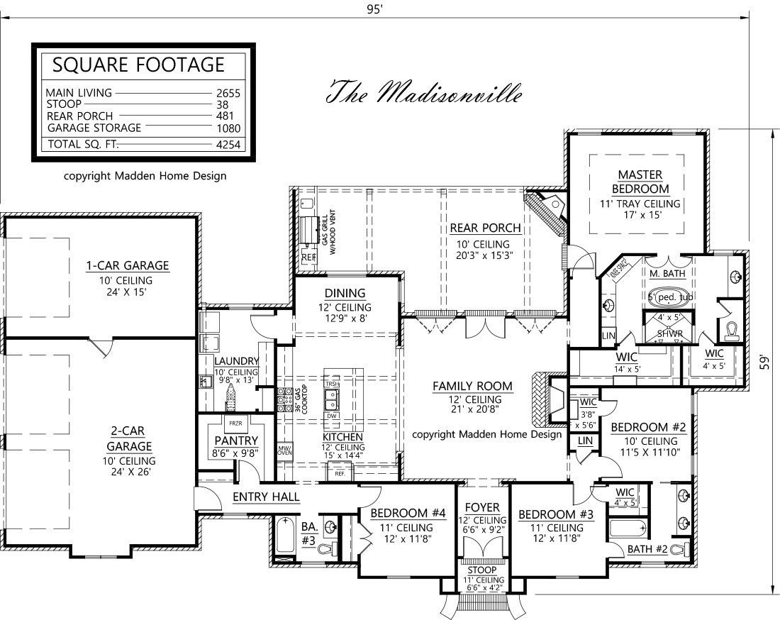Madisonville french country house plan 2655 living area 4 bedroom – French Country House Plans Open Floor Plan