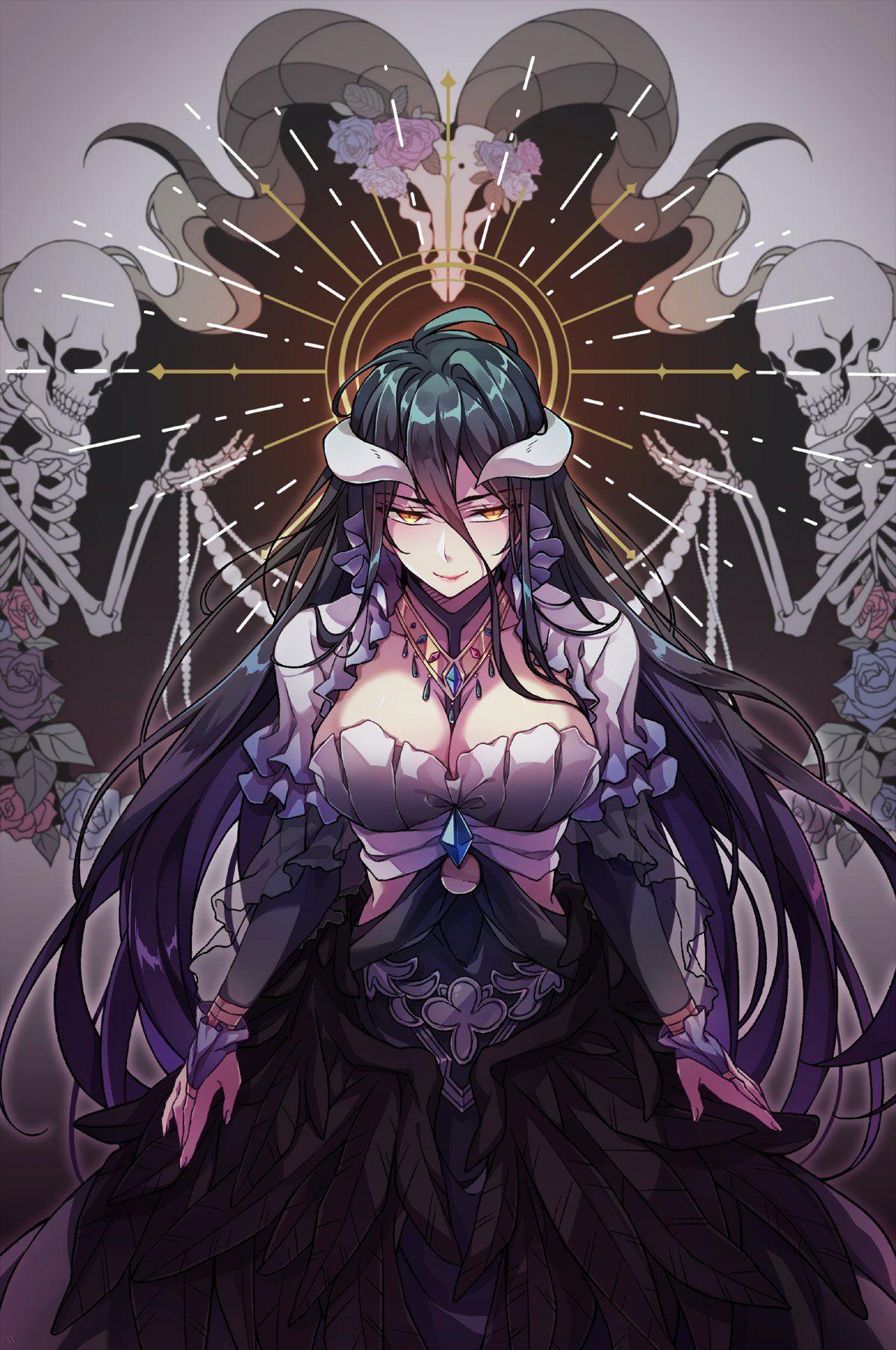 Albedo Overlord By Jju Nile12634 Anime Drawings Anime Fantasy Anime