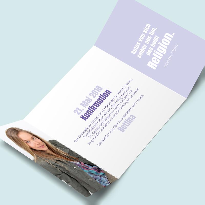 konfirmationskarten: fest im glauben. moderne einladungen zur, Einladung