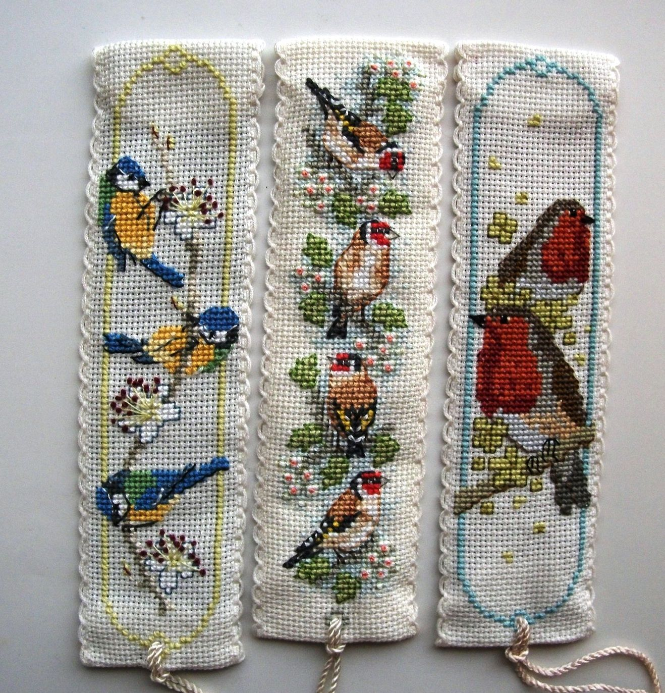 Goldfinches Bookmark Cross Stitch Kit by Textile Heritag