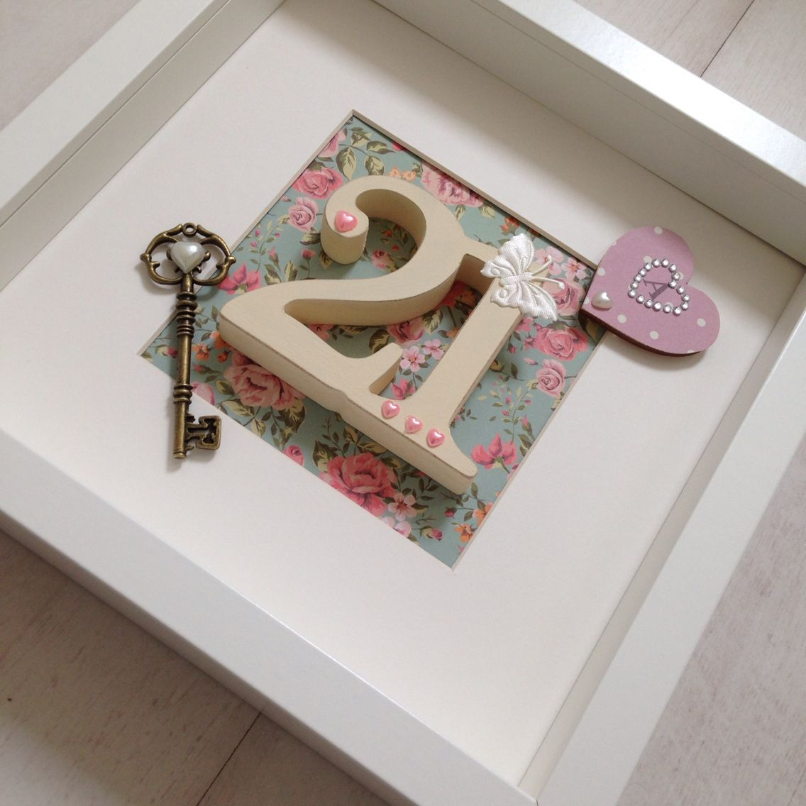 Handcrafted Personalised 21st Birthday Keepsake In A Vintage Style By JanieBcrafts