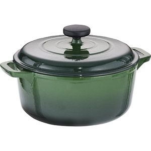 Dutch oven, reviewed by America's Test Kitchen. Like Le Creuset but $45 in stead 300 - have it love it, amazing pan