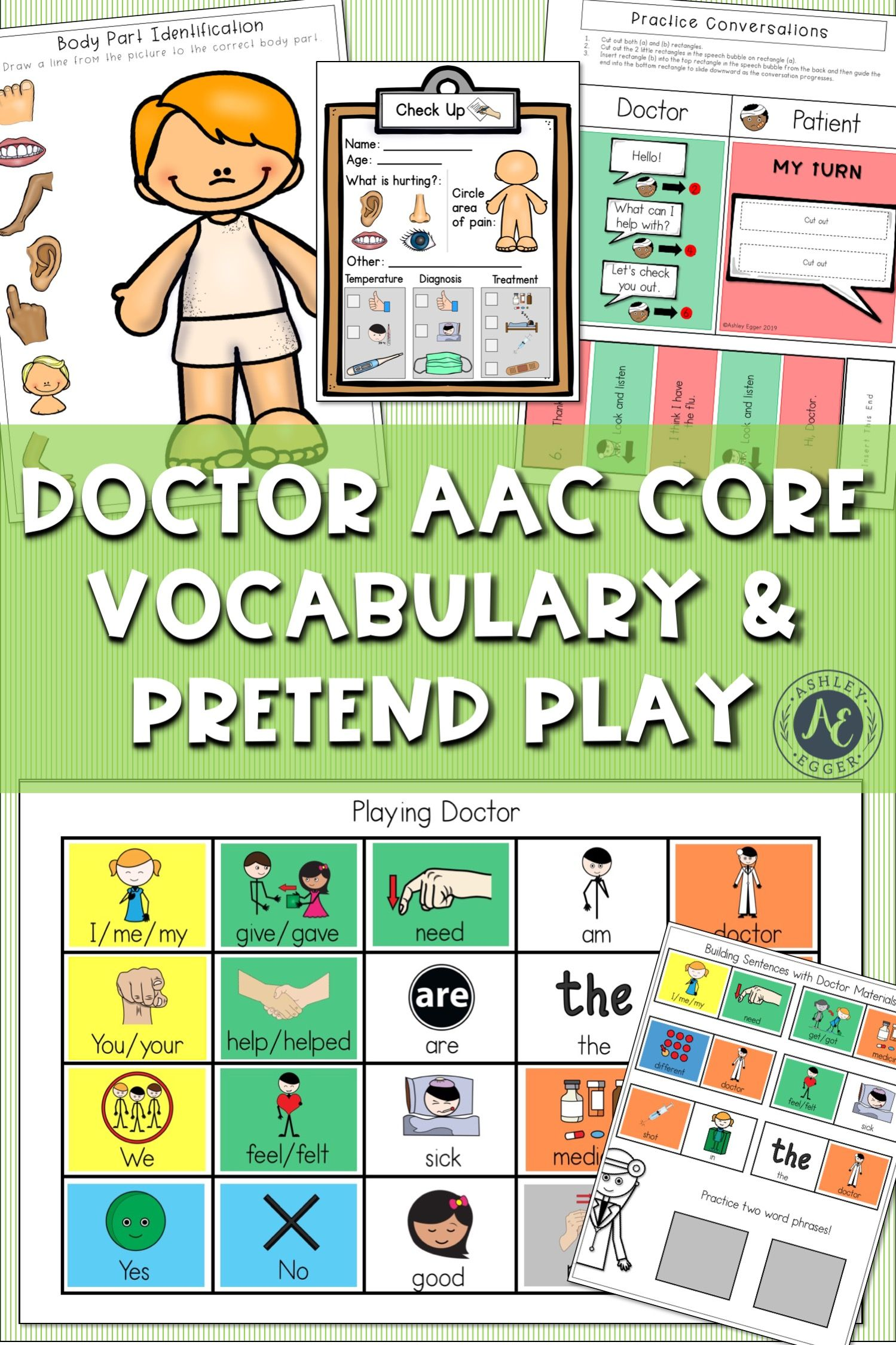 Aac Activity Doctor Dramatic Play Speech Therapy