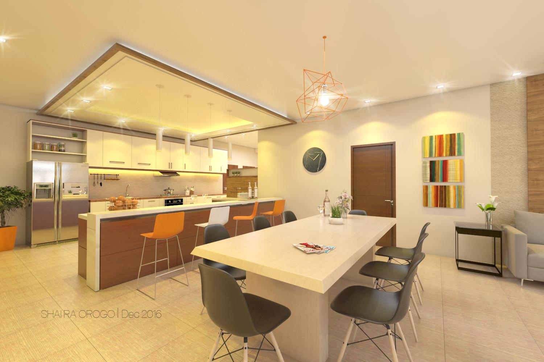 Kitchen,Dining Interior, Four srorey House Navotas, Philippines ...