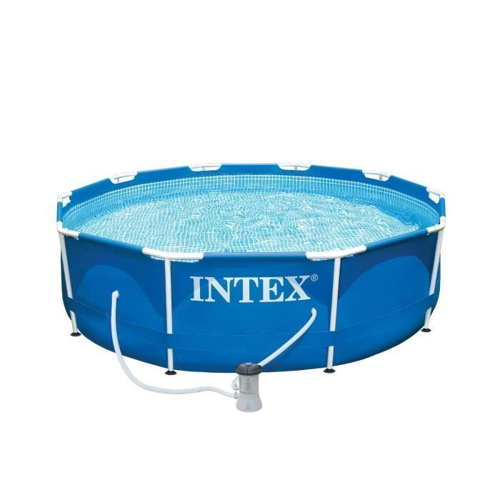 INTEX Kit piscine tubulaire ronde Métal Frame Ø 305 x 76