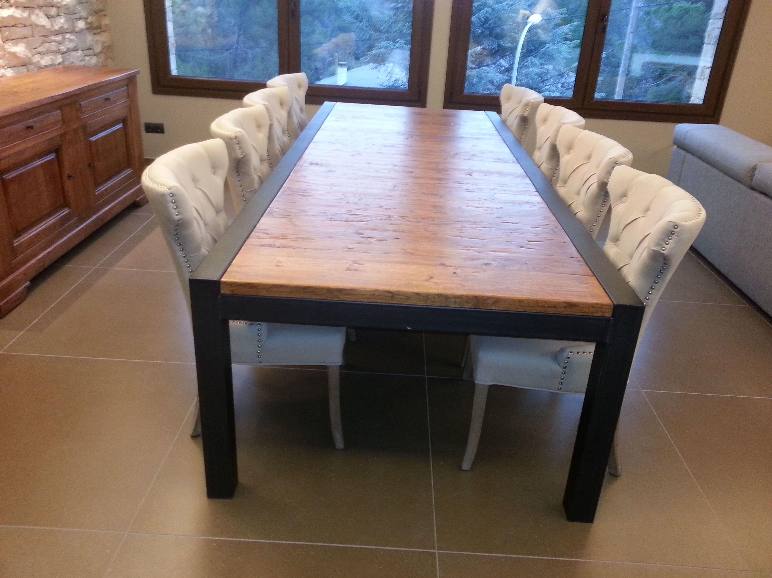 Mesa de Roble con estructura de forja .: Catálogo de muebles de ...