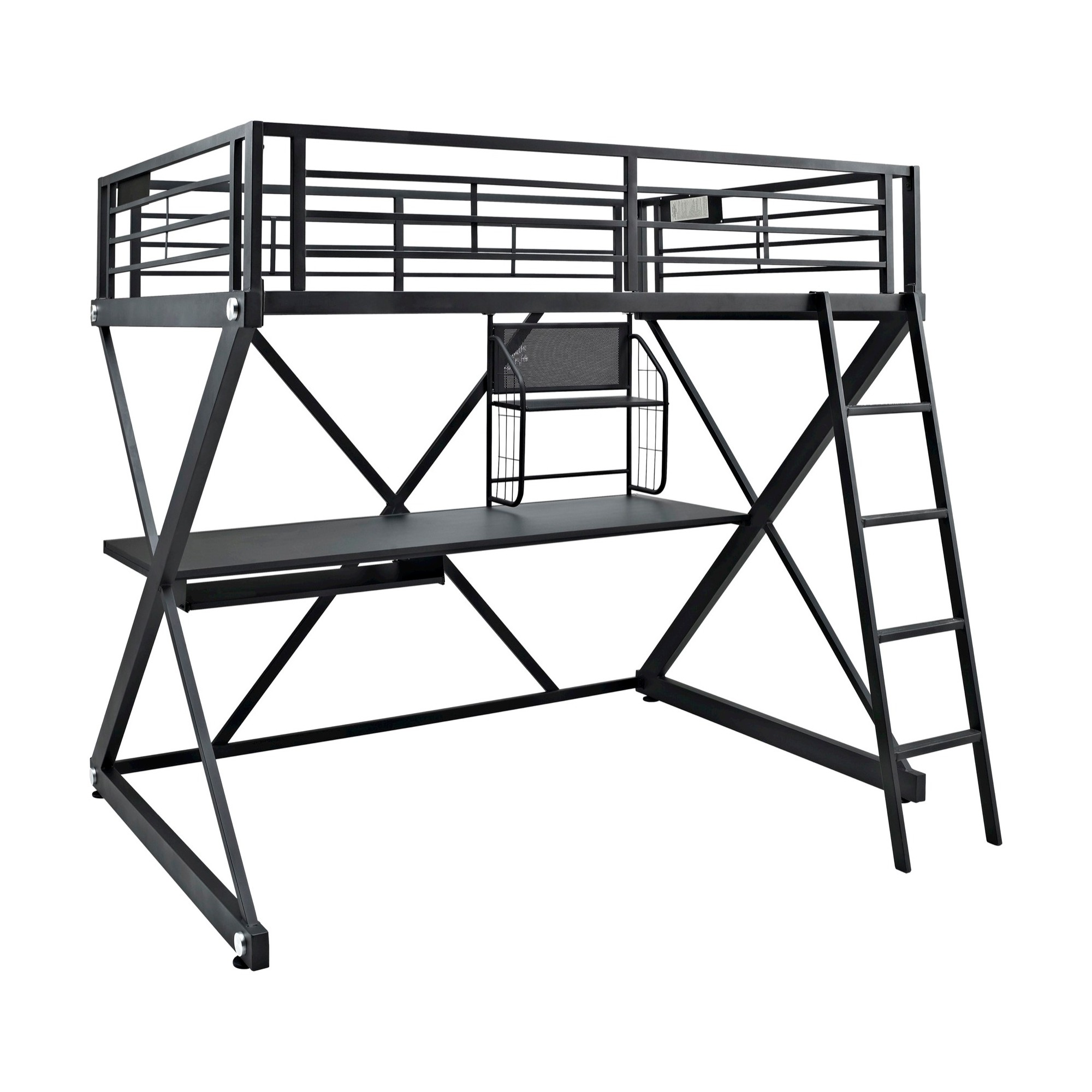 Oak loft bed with desk  Zayne Loft Bed Full  Oak Grove Collection Black  Products
