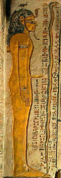 """Geb was frequently described mythologically as father of snakes (one of the names for snake was s3-t3 – """"son of the earth"""")"""