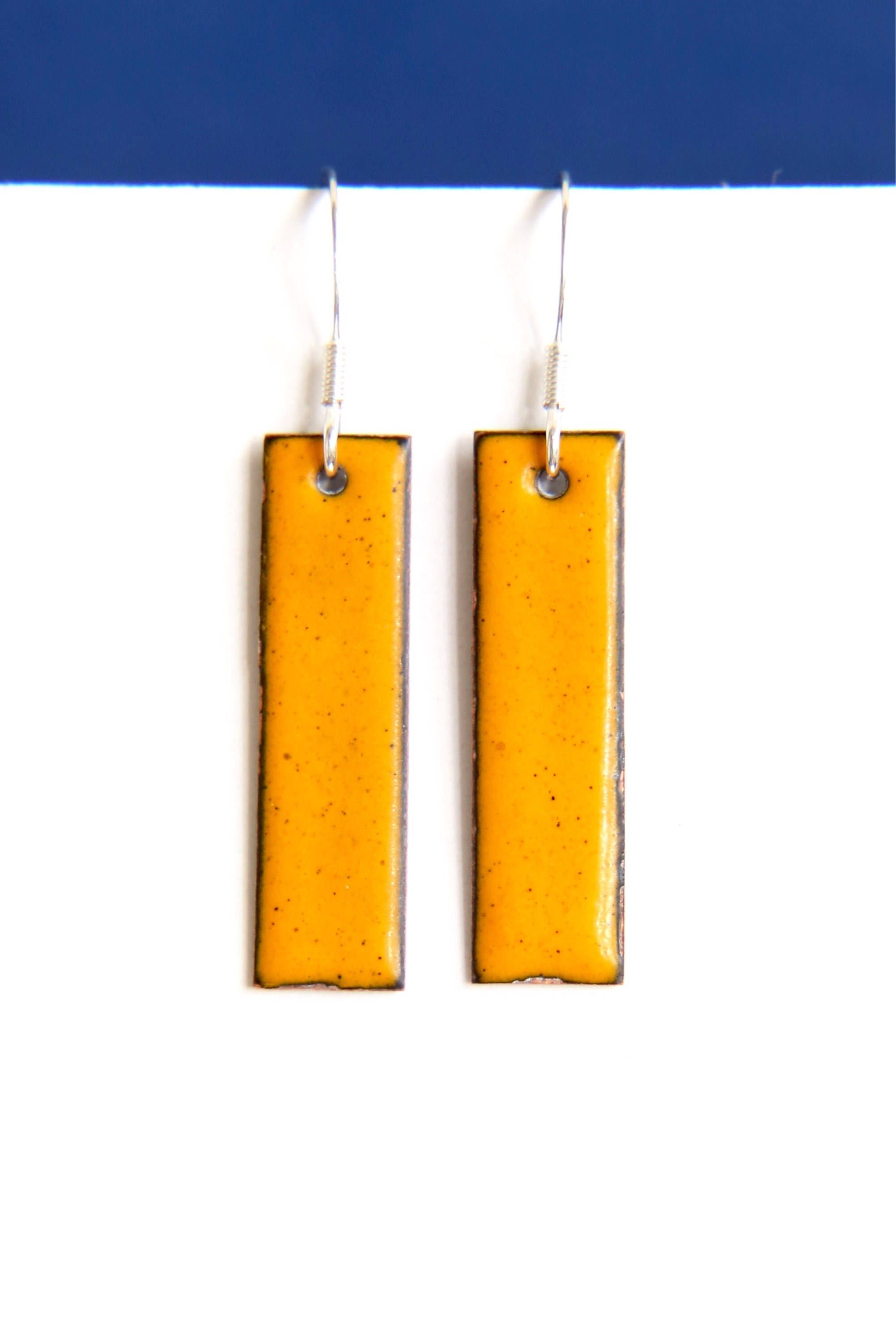 Bright Yellow Autumnal Earrings Yellow Accessories Yellow