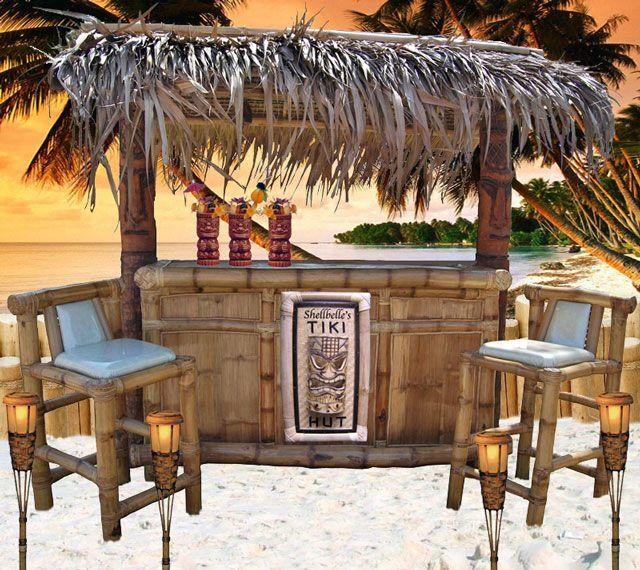 Pin by Krista Kontny on Tiki Bar Ideas | Backyard patio ... on Backyard Tiki Hut Designs id=83174