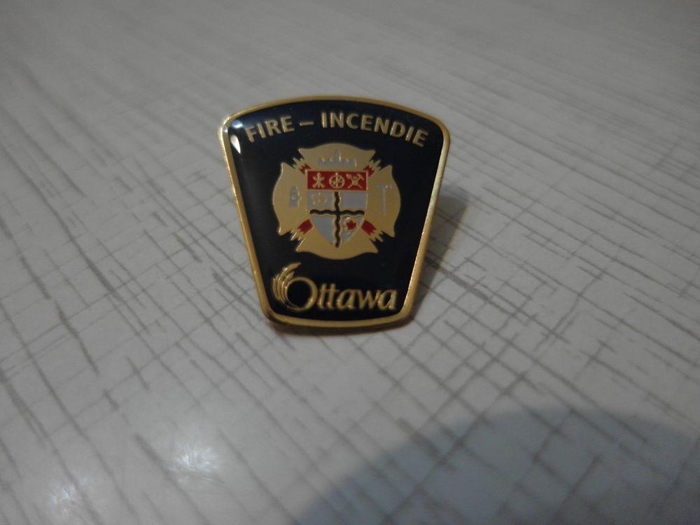 Ottawa fire badge Ottawa fire-incendie department Canada 100%ORIGINAL Rarity