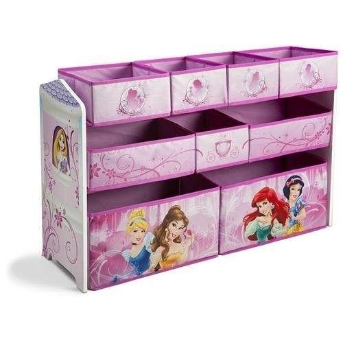 New Disney Princess Pink Bins Box Baskets Toy Storage Cubbies Bin