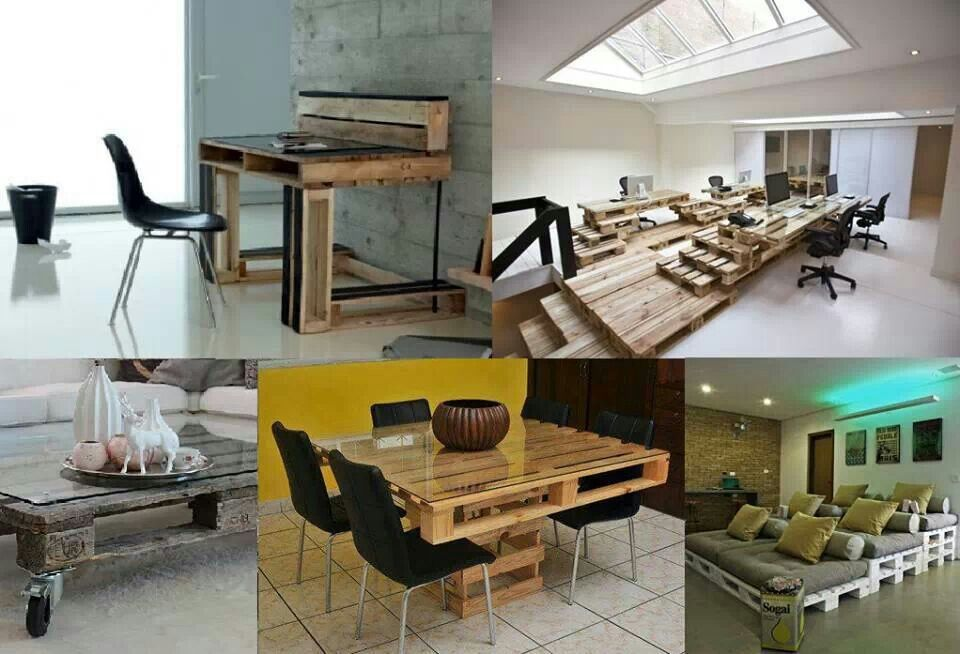 La Bioguia Palets furnitures Recicled furniture and organizer - ideas con palets