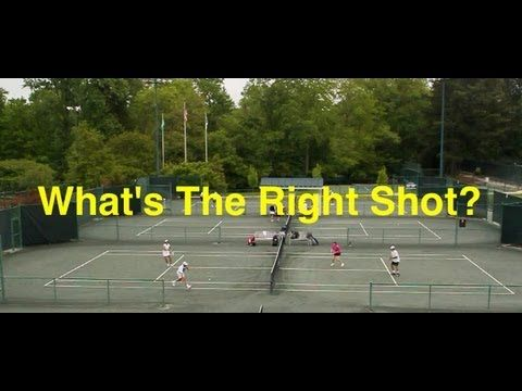 Tennis Doubles Strategy What S The Right Shot Episode Tennis Doubles Tennis Doubles