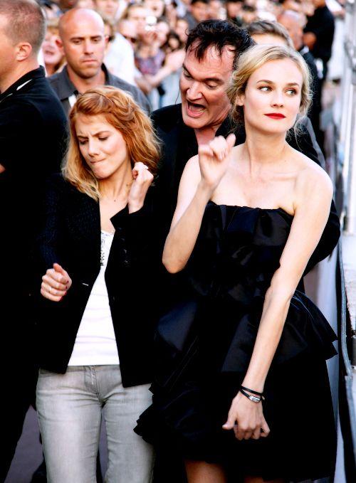 Melanie Laurent Quentin Tarantino And Diane Kruger Wow Melanie Laurent Diane Kruger Quentin Tarantino