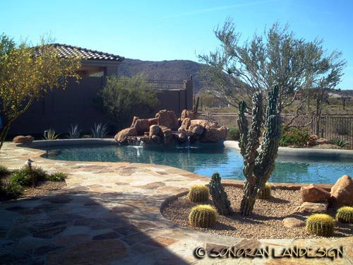 Arizona Desert Landscaping Design Sonoran Landesign Backyard Arizona Desert Landscaping Pool Landscaping