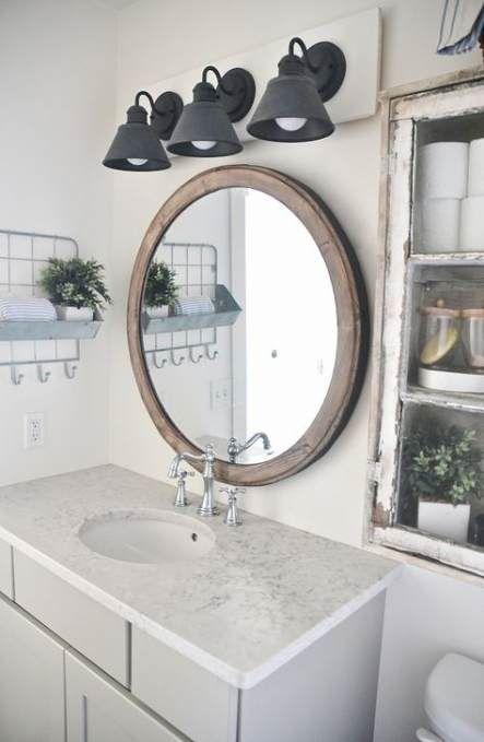 Photo of 17 Trendy Farmhouse Style Bathroom Vanity Light Fixtures