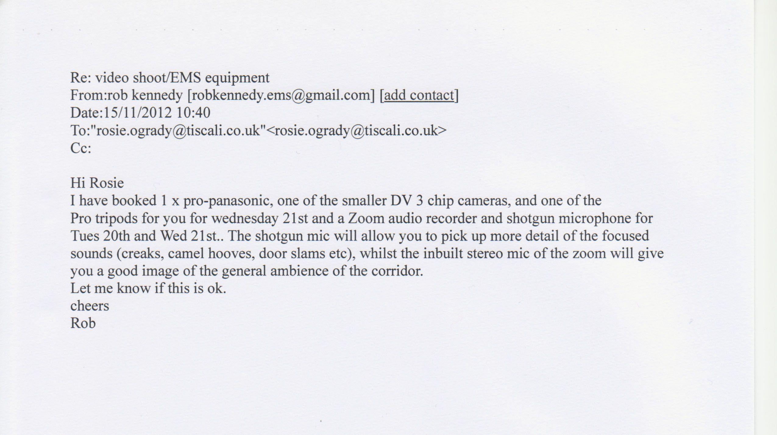 Correspondence Between Rosie O Grady And The Cameraman Correspondence Encouragement