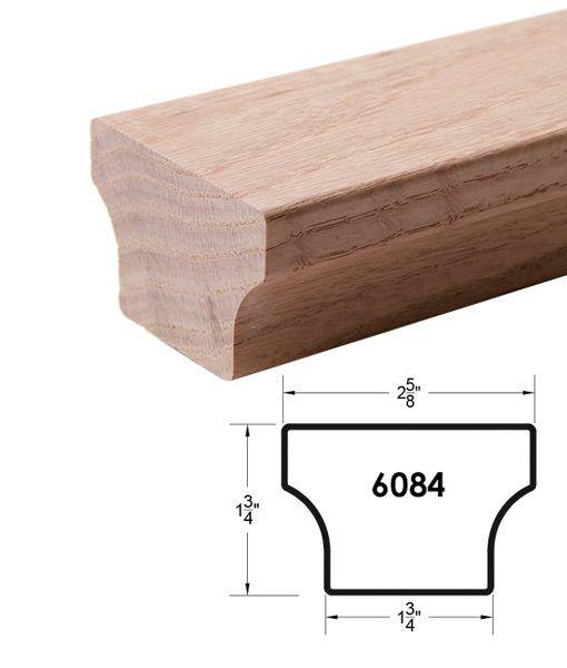 Best 6084 Modern Wood Handrail – Red Oak Our Apple Slice 640 x 480
