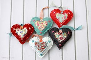 Felt and Fabric Valentine Sachets