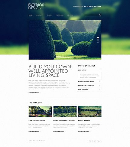Exterior Design Responsive Website Template | Website, Design web ...